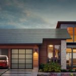 House built with new Tesla roof tiles