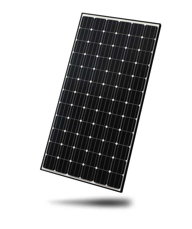 black frame solar panel white backsheet