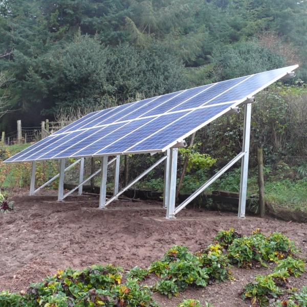 Ground-mounted-solar-panels-metal-frames - Naked Solar