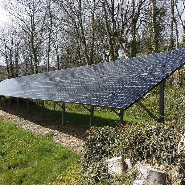 Ashford Solar PV panel array Ashford, Kent ground mounted