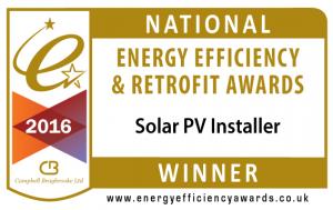 Winner Solar PV Installer - National Energy Efficiency & Retrofit Awards