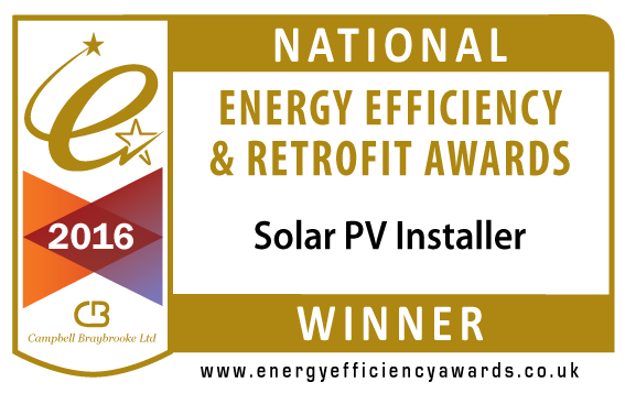 Winner Solar PV Installer - National Energy Efficiency & Retrofit Awards