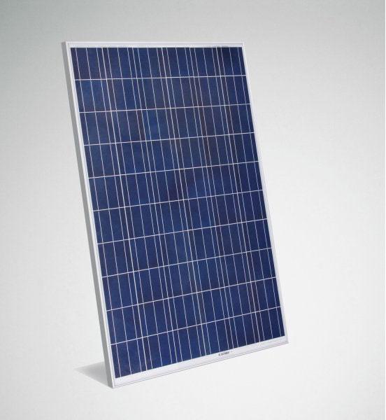 Silver frame solar panel