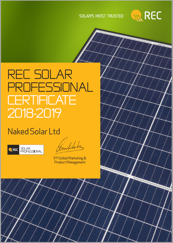 Naked Solar selected as an REC Solar Professional - Naked