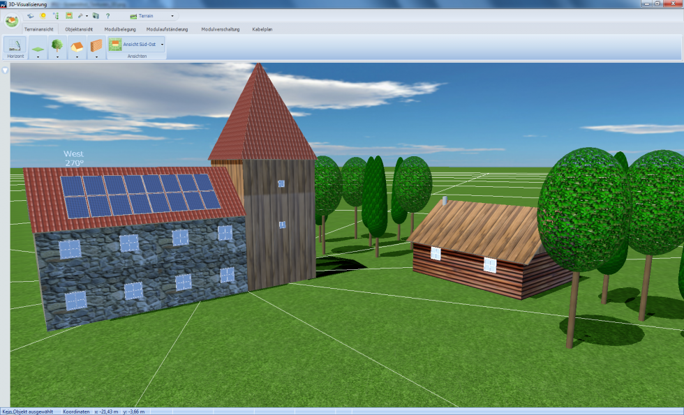 Solar simulation software PV Sol