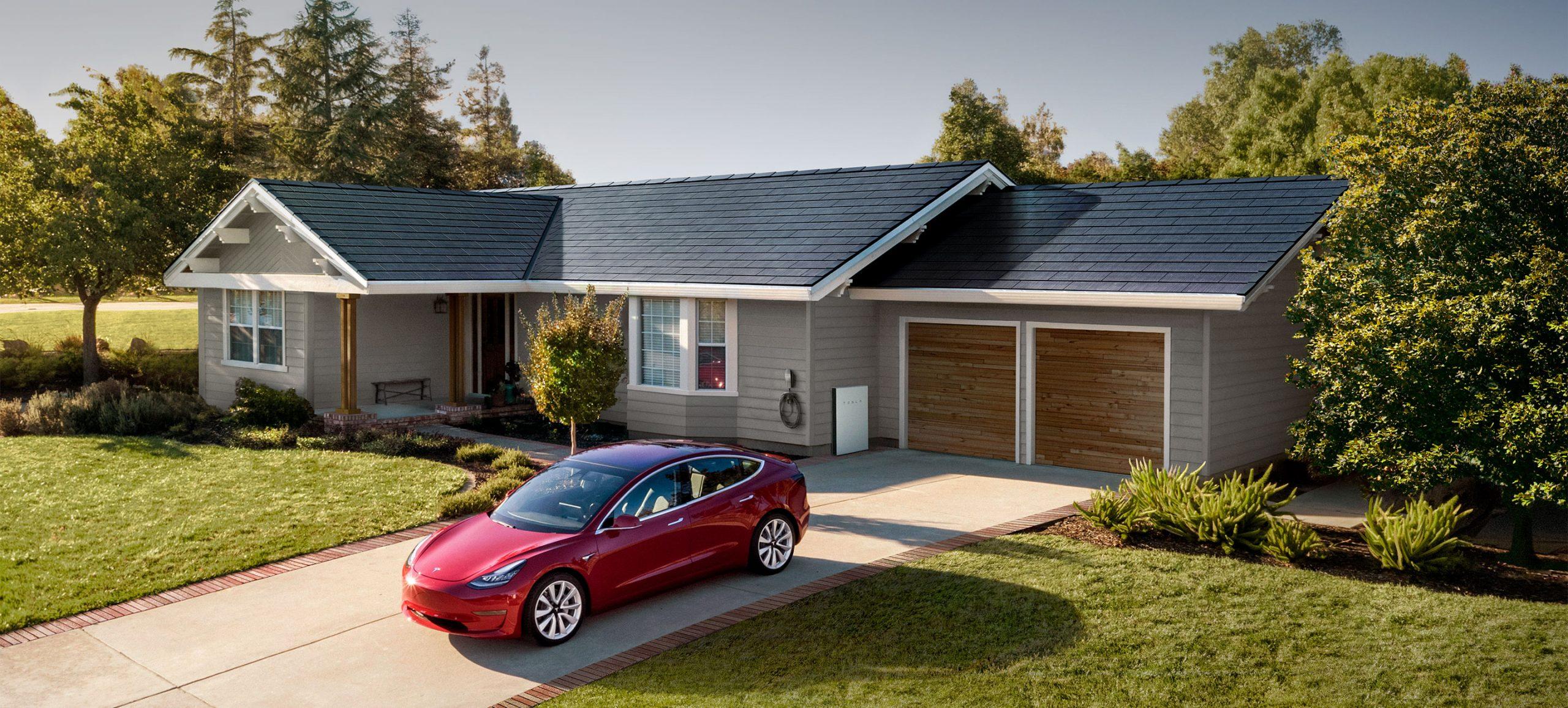 Tesla Solar Roof tiles slates