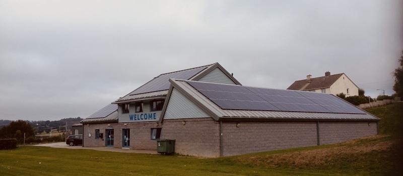 Dracaena center Solar PV on standing seam roof