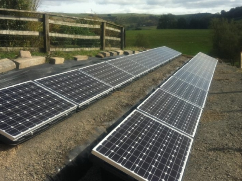 Console Bins ground mounted solar